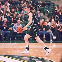 5th year forward, Christina McCusker (12) of the Regina Cougars during the Women's Basketball Home Game on Sat Feb 02 at Centre for Kinesiology,Health and Sport. Credit: Arthur Ward/Arthur Images