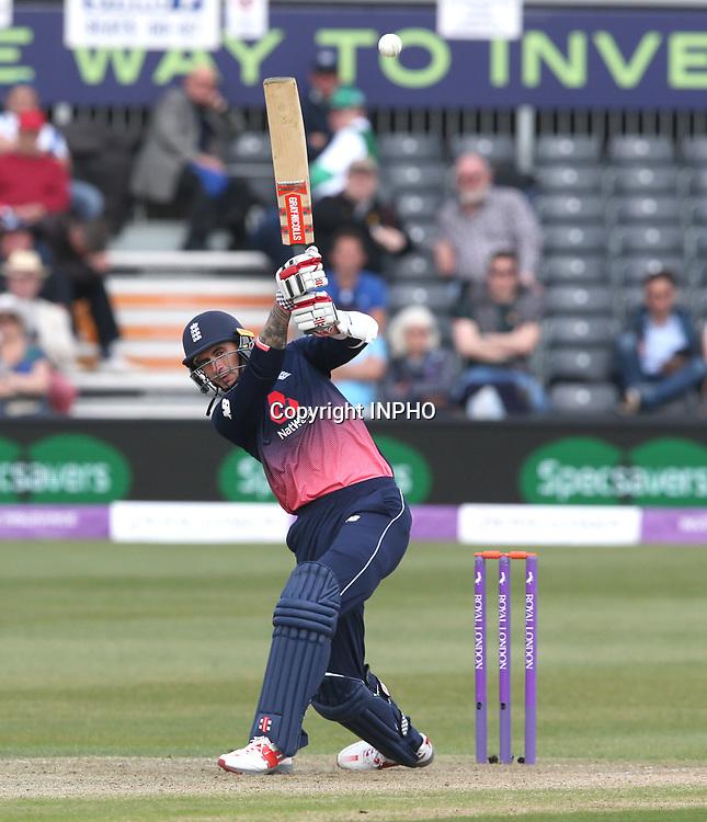 1st One Day International, Bristol Cricket Ground, England 5/5/2017<br /> England vs Ireland<br /> England's Alex Hales<br /> Mandatory Credit &copy;INPHO/Andrew Fosker