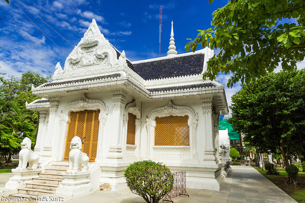 15 JULY 2014 - BANGKOK, THAILAND:    A chapel at Wat Rachathiwat Ratchaworawihan on Samsen Soi 9. The temple has a large teak instruction hall, considered one of the finest teak buildings in Asia.   PHOTO BY JACK KURTZ