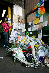 UK ENGLAND LONDON 28JUL05 - Flowers and condolences at Stockwell station for Jean Charles De-Menenzies, a 28-year old Brazilian electrician who was shot dead in error by plain-clothes policemen although he was not connected to the recent terrorist attacks...jre/Photo by Jiri Rezac ..© Jiri Rezac 2005..Contact: +44 (0) 7050 110 417.Mobile:  +44 (0) 7801 337 683.Office:  +44 (0) 20 8968 9635..Email:   jiri@jirirezac.com.Web:    www.jirirezac.com..© All images Jiri Rezac 2005 - All rights reserved.