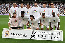 Real Madrid's team photo during La Liga match.September 2 2009.