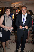 TALINE AVAKIAN; EDMOND AVAKIAN; , The Foreign Sisters lunch sponsored by Avakian in aid of Cancer Research UK. The Dorchester. 15 May 2012