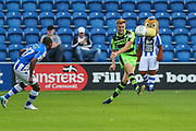 Forest Green Rovers Mark Roberts(21) clears the ball during the EFL Sky Bet League 2 match between Colchester United and Forest Green Rovers at the Weston Homes Community Stadium, Colchester, England on 26 August 2017. Photo by Shane Healey.
