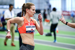 USATF Indoor Track and Field Championships<br /> held at Ocean Breeze Athletic Complex in Staten Island, New York on February 22-24, 2019; Oiselle, Walk USA, 3000m Walk, Maria is five months pregnant at time of race,