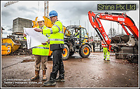 The construction of  a new Care UK care home in Bromsgrove.<br /> Pictured are L-R &bull; Richard Wakeford  Stepnell Construction<br /> &bull; Andrew Brett, Project Manager for Care UK<br /> Picture by Shaun Fellows / Shine Pix