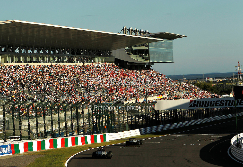 Motorsports / Formula 1: World Championship 2010, GP of Japan, 03 Michael Schumacher (GER, Mercedes GP Petronas),   04 Nico Rosberg (GER, Mercedes GP Petronas),