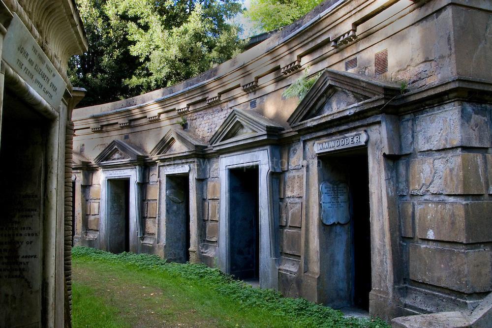 Mausoleums at Highgate Cemetery London - Circle of Lebanon