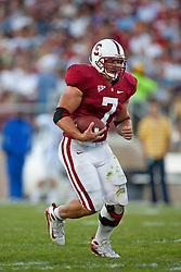 September 19, 2009; Stanford, CA, USA;  Stanford Cardinal running back Toby Gerhart (7) rushes up field during the second quarter against the San Jose State Spartans at Stanford Stadium. Stanford defeated San Jose State 42-17. Mandatory Credit: Jason O. Watson-US PRESSWIRE