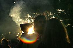 O Ritual de Proteção do Fogo Sagrado, foi realizado pelos pajés dos povos guarani, kaingang e xoclen. Estas entidades representam os indígenas dos nove países que fazem parte da Bacia Amazônica: Brasil, Venezuela, Bolívia, Equador, Colômbia, Peru, Guiana, Suriname e Guiana Francesa na abertura do V Forum Social Mundial, em Porto Alegre. FOTO: Jefferson Bernardes / Preview.com