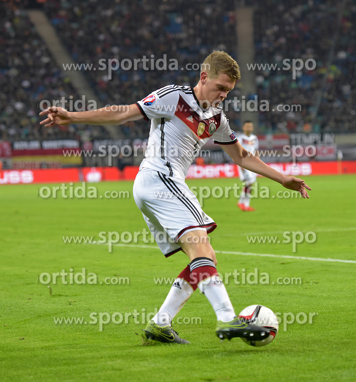 11.10.2015, Stadion Leipzig, Leipzig, GER, UEFA Euro Qualifikation, Deutschland vs Georgien, Gruppe D, im Bild Matthias Ginter (GER #6) // during the UEFA EURO 2016 qualifier group D match between Germany and Georgia at the Stadion Leipzig in Leipzig, Germany on 2015/10/11. EXPA Pictures &copy; 2015, PhotoCredit: EXPA/ Eibner-Pressefoto/ Ostpix<br /> <br /> *****ATTENTION - OUT of GER*****