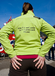 Fan of Robert Kranjec during Flying Hill Individual First Round at 2nd day of FIS Ski Flying World Championships Planica 2010, on March 19, 2010, Planica, Slovenia.  (Photo by Vid Ponikvar / Sportida)