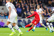 Bayern Munich midfielder Philippe Coutinho (10) takes a shot during the Champions League match between Tottenham Hotspur and Bayern Munich at Tottenham Hotspur Stadium, London, United Kingdom on 1 October 2019.