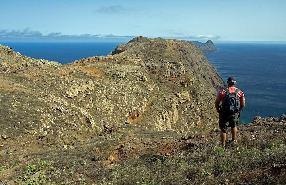 Mission - Monk Seal<br /> Monk Seal (Monachus monachus), Desertas Islands &ndash; Deserta Grande - Madeira, Portugal. August 2009. Landscape