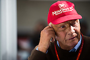 October 23, 2016: United States Grand Prix. Niki Lauda
