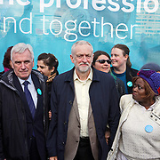London,England,UK : 26th April 2016 : Day One , Labour Leader Jeremy Corbyn join Junior doctors assembly at St Thomas Hospital march to Department of Health in London. Photo by See Li