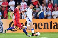 2016.06.20 Saint-Etienne<br /> Pilka nozna Euro 2016<br /> mecz grupy C Slowacja - Anglia<br /> N/z Gary Cahill Marek Hamsik<br /> Foto Lukasz Laskowski / PressFocus<br /> <br /> 2016.06.20 Saint-Etienne<br /> Football UEFA Euro 2016 group C game between Slovaki and England<br /> Gary Cahill Marek Hamsik<br /> Credit: Lukasz Laskowski / PressFocus