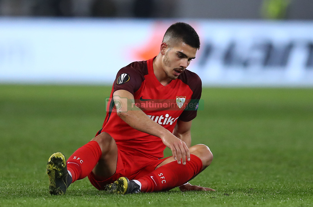 February 14, 2019 - Rome, Italy - SS Lazio v Fc Sevilla : UEFA Europa League Round of 32 .Andre Silva of Sevilla at Olimpico Stadium in Rome, Italy on February 14, 2019. (Credit Image: © Matteo Ciambelli/NurPhoto via ZUMA Press)