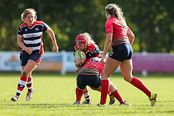 Carys Phillips of Bristol Ladies - Rogan Thomson/JMP - 16/10/2016 - RUGBY UNION - Cleve RFC - Bristol, England - Bristol Ladies Rugby v Lichfield Ladies - RFU Women's Premiership.