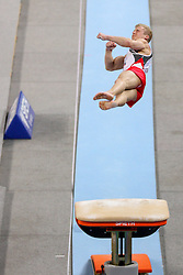 05-04-2015 SLO: World Challenge Cup Gymnastics, Ljubljana<br /> Marco Rizzo of Switzerland in Vault during Final of Artistic Gymnastics World Challenge Cup Ljubljana, on April 5, 2015 in Arena Stozice, Ljubljana, Slovenia. Photo by Morgan Kristan / RHF Agency