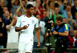 Marcus Rashford of England celebrates scoring a goal to make it 2-1 - Mandatory by-line: Robbie Stephenson/JMP - 04/09/2017 - FOOTBALL - Wembley Stadium - London, United Kingdom - England v Slovakia - 2018 FIFA World Cup Qualifier