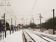 View along the train tracks from King's Lynn Train Station