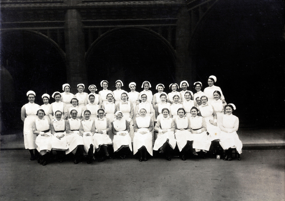 1930s group portrait with new nurses