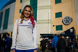 Emily Rogawski arrives back at her home away from home Stamford Bridge - Mandatory by-line: Jason Brown/JMP - 26/12/2016 - FOOTBALL - Stamford Bridge - London, England - Chelsea v Bournemouth - Premier League