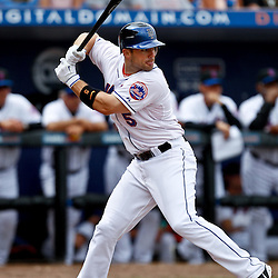 March 6, 2011; Port St. Lucie, FL, USA; New York Mets third baseman David Wright (5) during a spring training exhibition game against the Boston Red Sox at Digital Domain Park.  Mandatory Credit: Derick E. Hingle