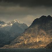 Sgurr na Stri and Sgurr nan Gillean from Loch Scavaig, Isle of Skye