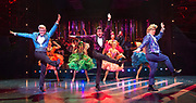 Strictly Ballroom <br /> By Baz Luhrmann <br /> At The Piccadilly Theatre, London, Great Britain <br /> Press photocall <br /> 17th April 2018 <br /> <br /> Jonny Labey as Scott Hastings <br /> Zizi Strallen as Fran <br /> Will Young as Band Leader <br /> Anna Francolini as Shirley Hastings <br /> <br /> And company