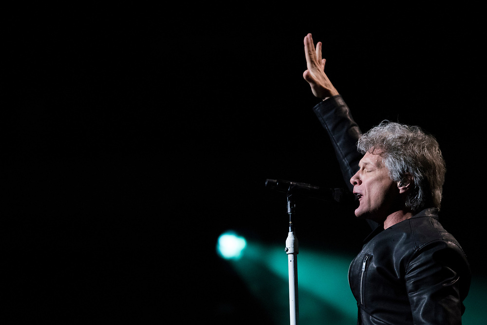 Bon Jovi performs at the American Airlines Center in Dallas, Texas on February 23, 2017.