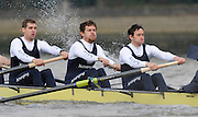Putney, GREAT BRITAIN,   left, Ben HARRISON, 7. Sjoerd HAMBURGER, Stroke Colin SMITH and Cox Philip CLAUSEN-THUE.during the 2008 Varsity/Oxford University [OUBC] Trial Eights, raced over the championship course. Putney to Mortlake, on the River Thames. Thurs. 11.08.2008 [Mandatory Credit, Peter Spurrier/Intersport-images] Varsity Boat Race, Rowing Course: River Thames, Championship course, Putney to Mortlake 4.25 Miles,