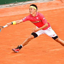 Kei Nishikori of Japan during Day 6 of the French Open 2018 on June 1, 2018 in Paris, France. (Photo by Dave Winter/Icon Sport)