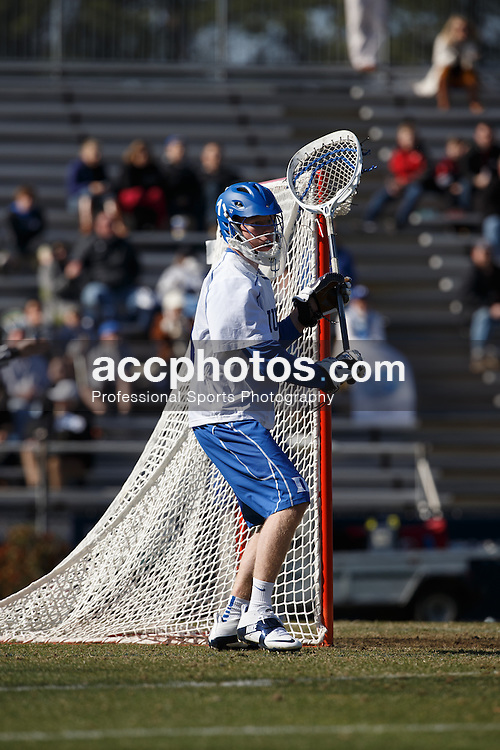 2013 February 10: Kyle Turri #1 of the Duke Blue Devils during a 9-21 win over the Jacksonville Dolphins at Koskinen Stadium in Durham, NC.