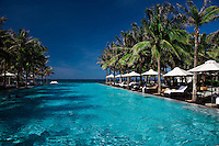 Pool and ocean view at the Nam Hai Resort in Hoi An, Vietnam.