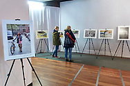 """Warsaw, Poland - 2017 April 09:  Photo Exhibition """"Bikers""""  by Adam Nurkiewicz while Bike & Fasion Fair at Jablkowski Brothers Trading House on April 09, 2017 in Warsaw, Poland.<br /> <br /> Mandatory credit:<br /> Photo by © Adam Nurkiewicz / Mediasport<br /> <br /> Adam Nurkiewicz declares that he has no rights to the image of people at the photographs of his authorship.<br /> <br /> Picture also available in RAW (NEF) or TIFF format on special request.<br /> <br /> Any editorial, commercial or promotional use requires written permission from the author of image."""