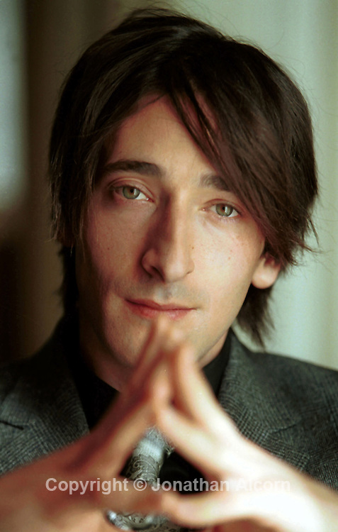"Actor ADRIEN BRODY in a 2002 portrait session during an interview for ""The Pianist"" which he won the Best Actor Oscar in 2002."