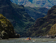 Hells Canyon, Snake River, deepest gorge in North America (7900 feet), forms the border of Idaho and Oregon. Raft trip 2010.