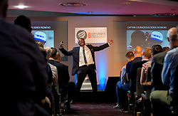 Kriss Akabusi gives a talk at The Bristol Sport Big Breakfast - Mandatory by-line: Robbie Stephenson/JMP - 29/07/2016 - FOOTBALL - Ashton Gate - Bristol, England - Bristol Sport Big Breakfast - Kriss Akabusi