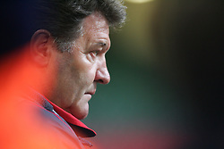 CARDIFF, WALES - WEDNESDAY, MARCH 1st, 2006: Wales' manager John Toshack during the International Friendly match against Paraguay at the Millennium Stadium. (Pic by Dan Istitenel/Propaganda)