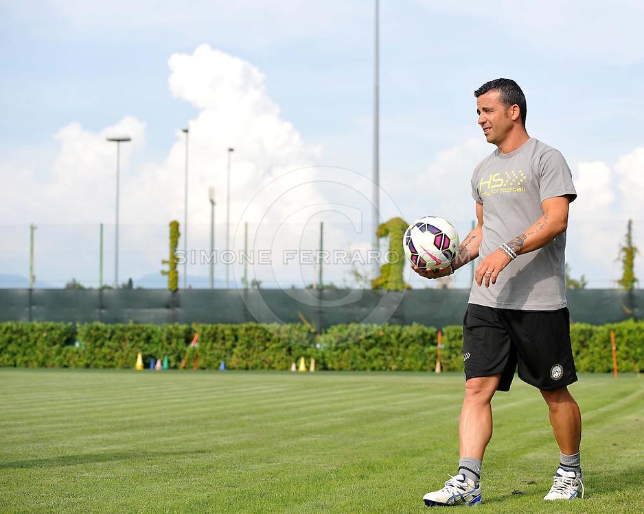 Udine 07/07/2014 calcio <br /> Udinese - Serie A 2014/15<br /> Primo allenamento per l'Udinese di Andrea Stramaccioni.<br /> Nella foto: Antonio Di Natale.<br /> &copy; foto di Simone Ferraro