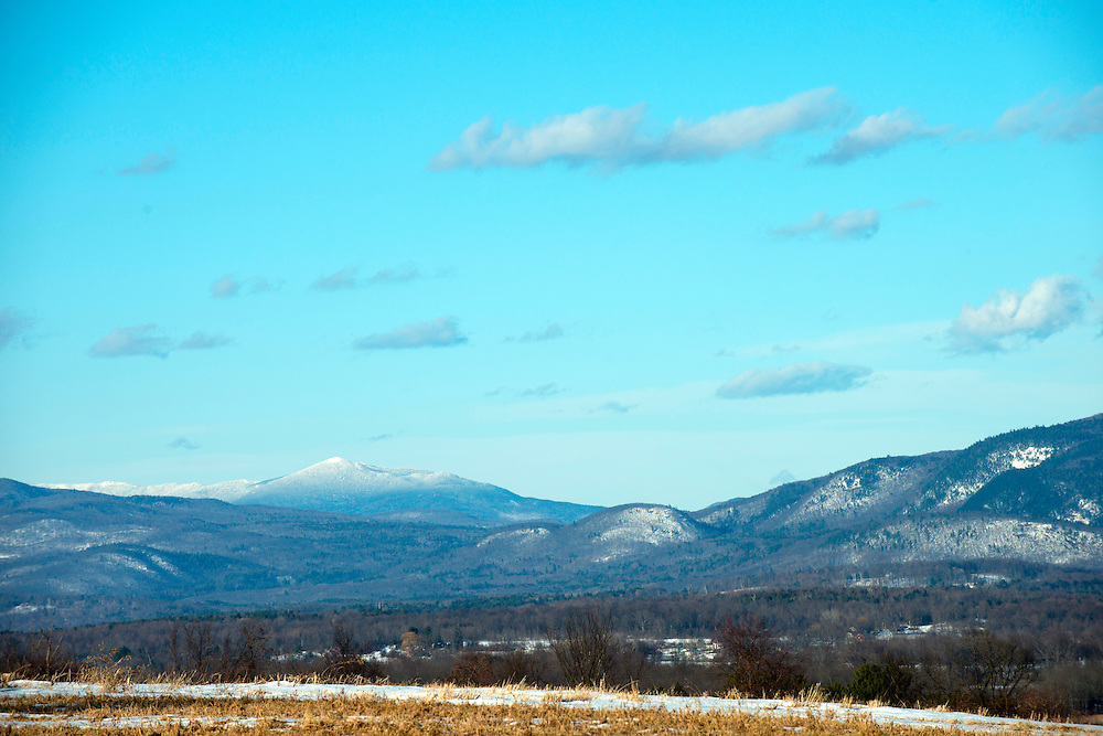 Mount Abraham in winter from Whiting, Vermont