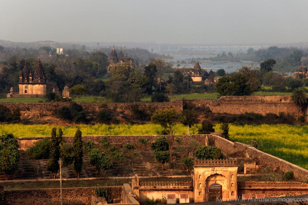 Asia, India, Orchha. Orchha Palace view.