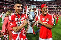 Joie Nicolas Gaitan / Maxi Pereira - 23.05.2015 - Benfica / Maritimo - Liga Sagres <br /> Photo : Carlos Rodriguez / Icon Sport