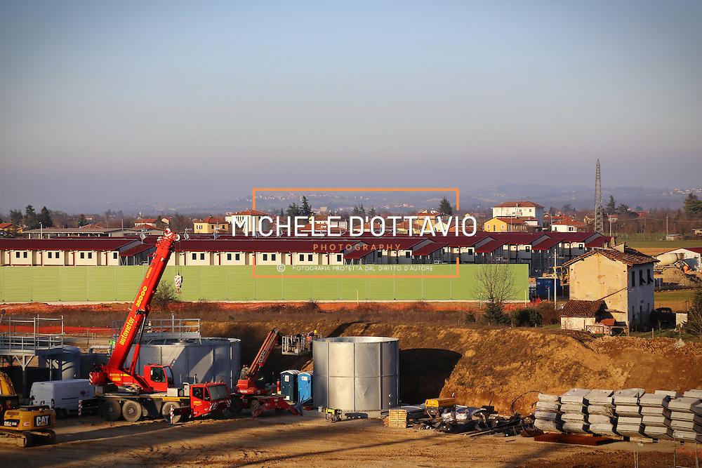 Febbraio 2016: Cantieri della linea ferrovia ad alta velocità Tortona-Genova, conosciuta anche come Terzo valico, è una linea ferroviaria progettata nel 1991 allo scopo di creare un collegamento veloce fra Genova e l'entroterra