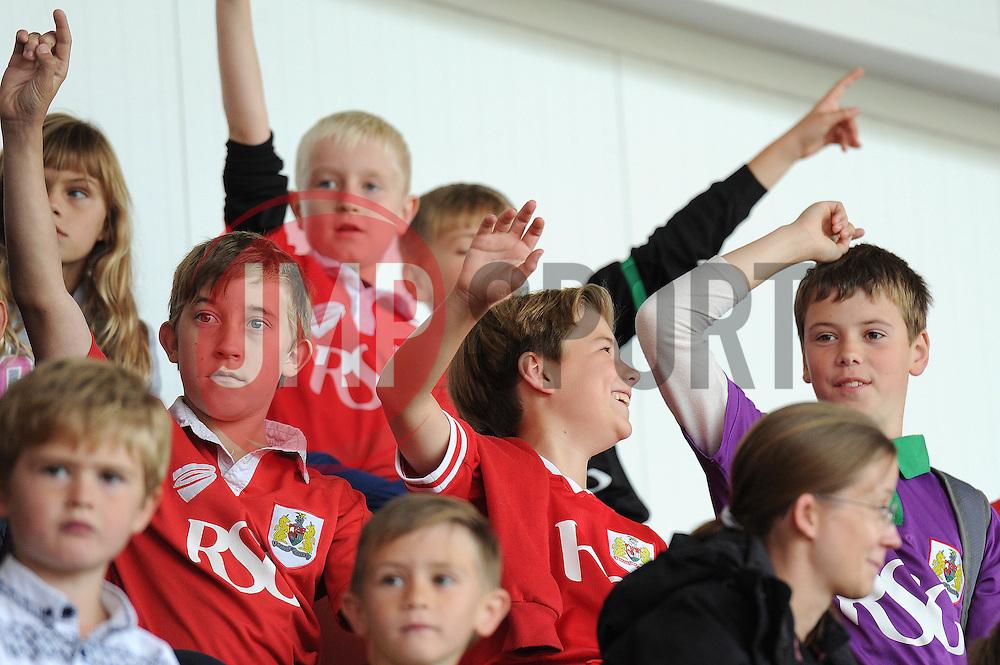 Young Bristol City fans - Mandatory byline: Dougie Allward/JMP - 07966 386802 - 03/10/2015 - FOOTBALL - Ashton Gate - Bristol, England - Bristol City v MK Dons - Sky Bet Championship