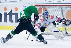 Petr Sachl (HDD Tilia Olimpija, #12) vs Michal Fikrt (HK Acroni Jesenice, #37) during ice-hockey match between HDD Tilia Olimpija and HK Acroni Jesenice in 41st Round of EBEL league, on Januar 23, 2011 at Hala Tivoli, Ljubljana, Slovenia. (Photo By Matic Klansek Velej / Sportida.com)