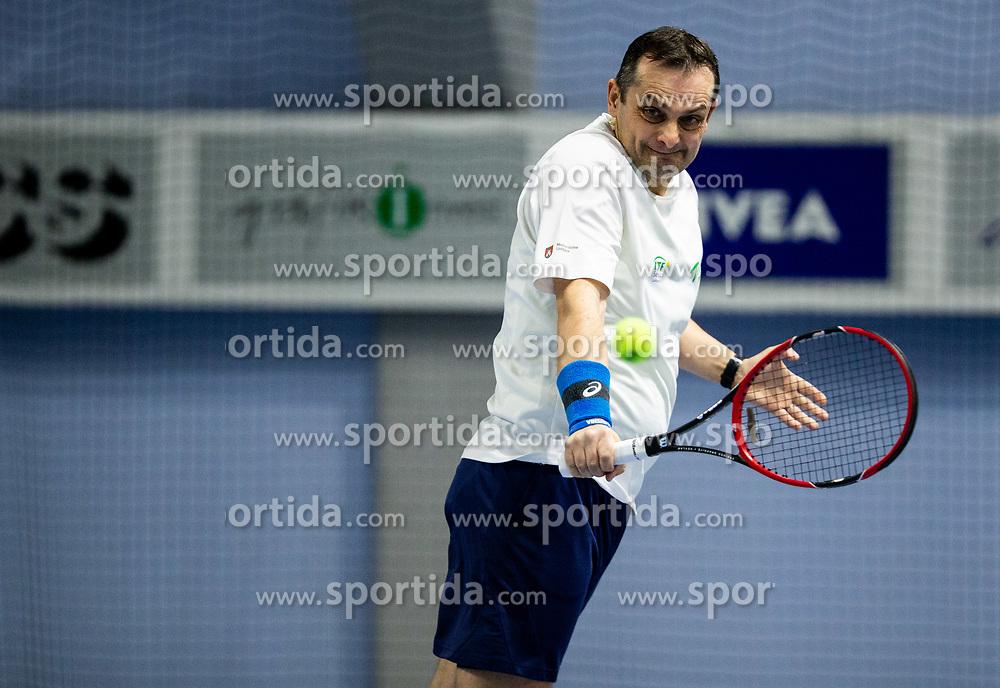 Robert Lazic at BTC Medot novoletni rekreativni teniski turnir dvojic 2020, on January 18, 2020 in BTC Millenium centre, Ljubljana, Slovenia. Photo by Vid Ponikvar / Sportida
