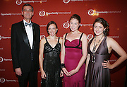 l to r: Chris Crane, Jessica Flannery, Elaine Compton and Liesel Pritzker at The Young Ambassadors for Opportunity Kick Off Campaign to Benefit Tanzania held at Gustavino's on October 11, 2008..Opportunity International is one of the oldest, largest and fastest growing microfinance organizations. Serving the poor entrepreneurs in 29 developing countries in Africa, Eastern Europe and Latin America, Opportunity is a pioneer in offering small business loans, savings, insurance and training in basic business practices to women and men living in chronic poverty. Opportunity's goal is to help lift 100 million people out of poverty by 2015 by mobilizing $1 billion.