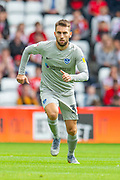 Ben Close (#33) of Portsmouth FC during the EFL Sky Bet League 1 match between Sunderland and Portsmouth at the Stadium Of Light, Sunderland, England on 17 August 2019.